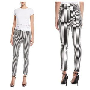 Rag & Bone Striped High-Rise Ankle Skinny Jeans